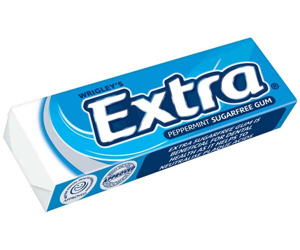 Wrigleys Extra Gum - Peppermint Sugarfree - Blue - 30x14G