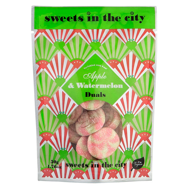 Sweets In The City - Watermelon & Apple Duals - 10x50g