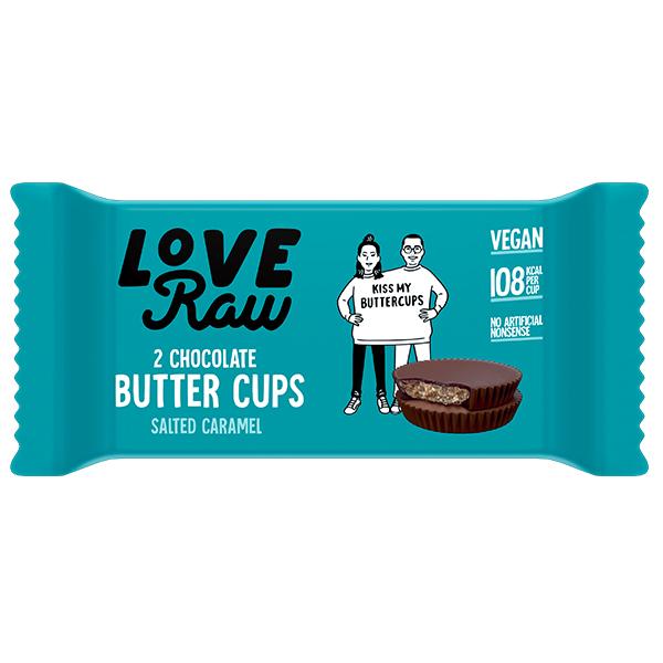 Love Raw Butter Cups - Salted Caramel - 18x34g