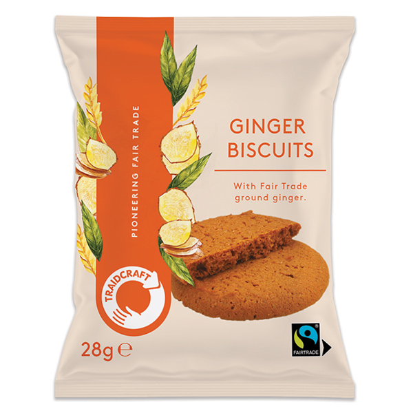 Traidcraft - F/T - Ginger Snap Biscuits - 20x28g