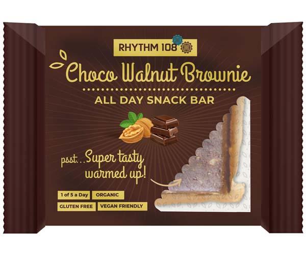Rhythm 108 - Choco Walnut Brownie All Day Snack Bar - 12x40g