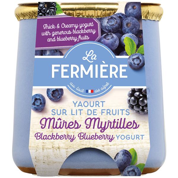 La Fermiere - Blackberry & Blueberry Yoghurt - 6x140g