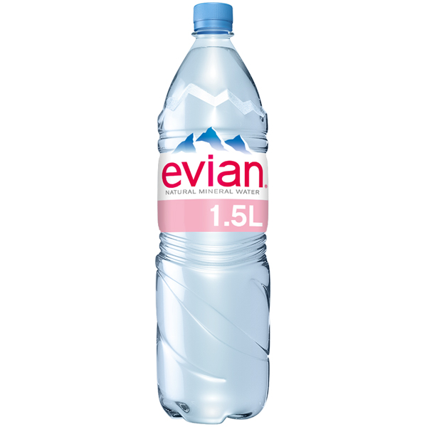 Evian - Still Mineral Water - 8x1.5Ltr