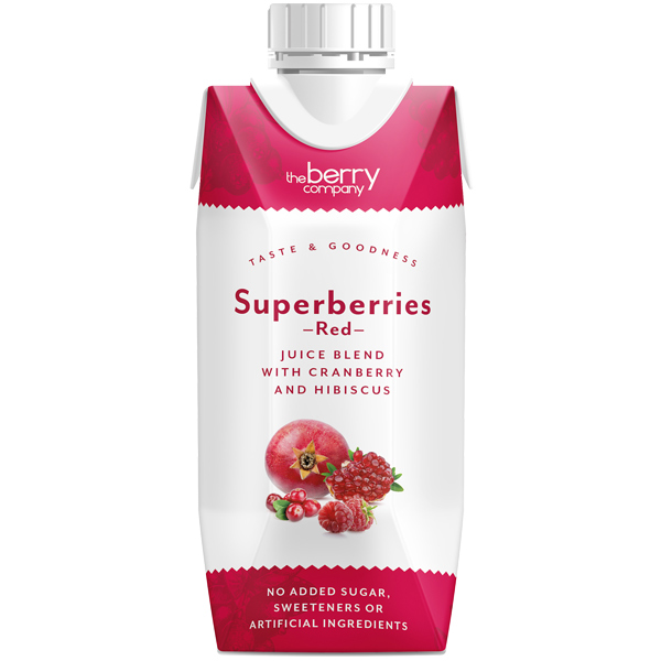 The Berry Company - Red Superberries Cranberry & Hibiscus - 12x330ml