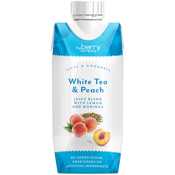 The Berry Company - White Tea Peach Lemon Moringa - 12x330ml