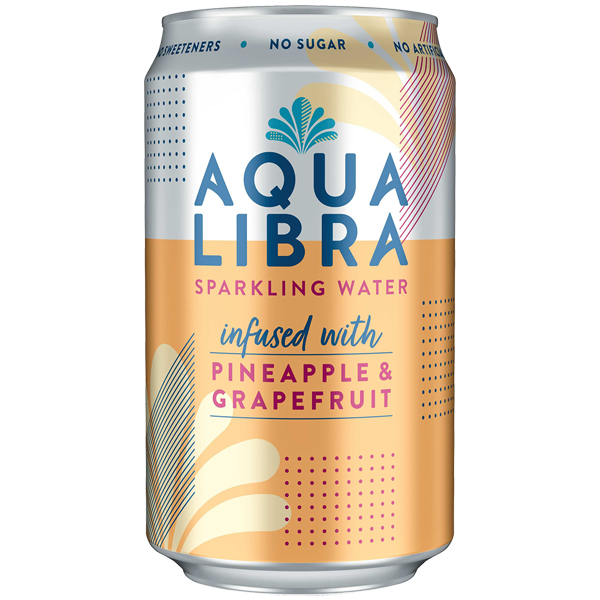 Aqua Libra Can - Grapefruit & Pineapple - 24x330ml