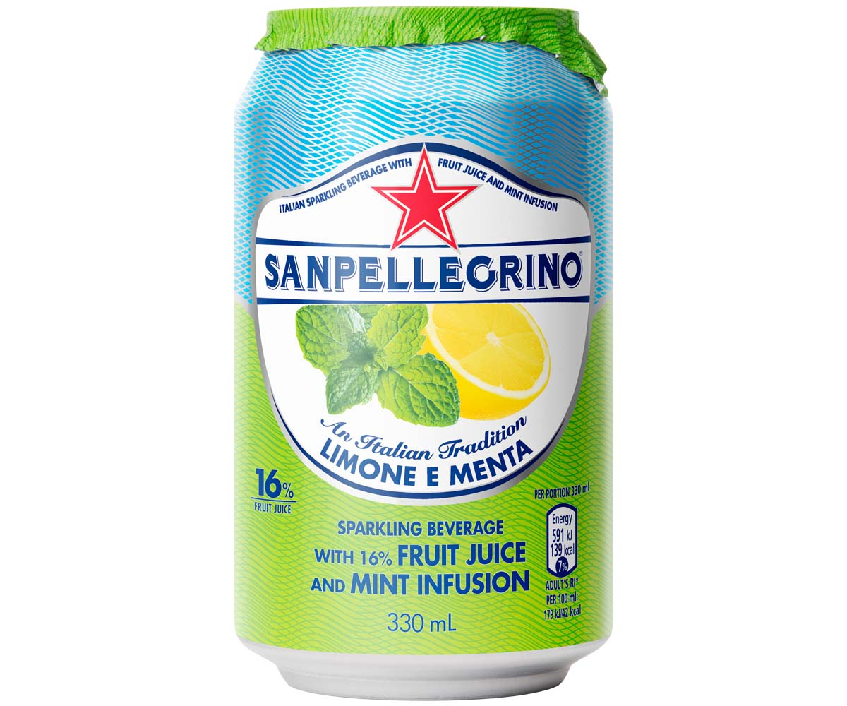 San Pellegrino - Limone Menta - 12x330ml Cans
