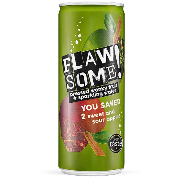 Flawsome Can - Sweet & Sour Apple - Lightly Sparkling Juice - 24x250ml