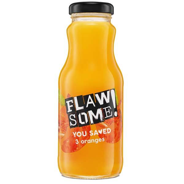 Flawsome! - Glass - Orange - Cold Pressed Juice - 12x250ml