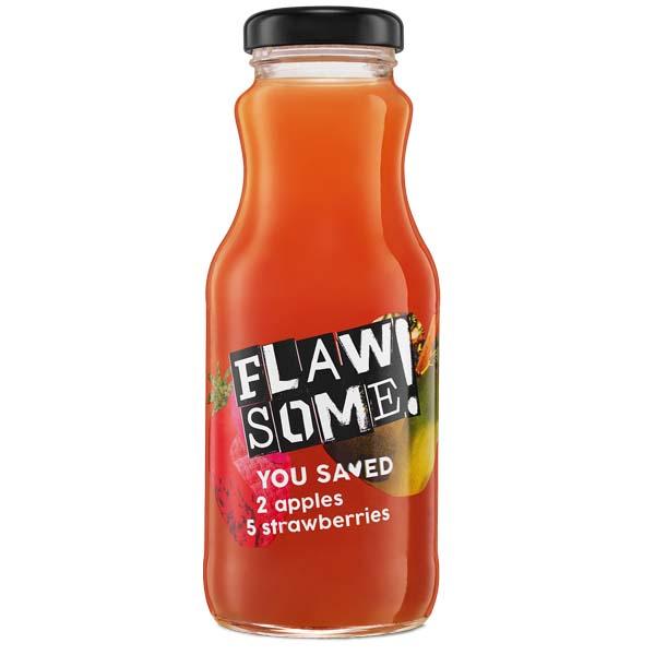 Flawsome! - Glass - Apple & Strawberry - Cold Pressed Juice - 12x250ml