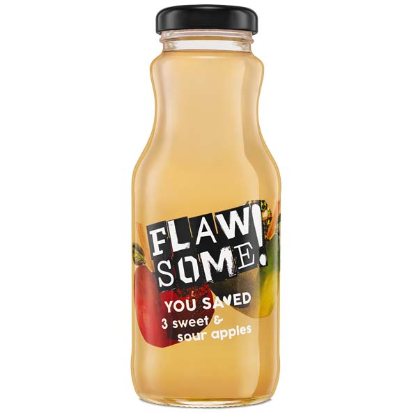Flawsome! - Glass - Sweet & Sour Apple - Cold Pressed Juice - 12x250ml