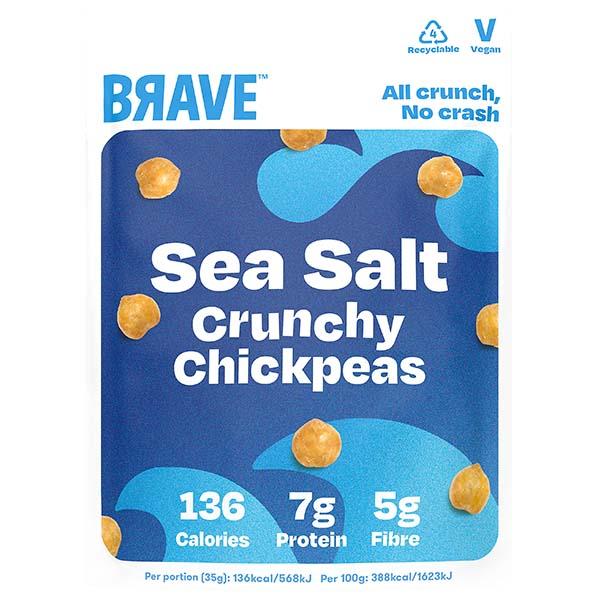 Brave Roasted Chickpeas - Sea Salt - 12x35g