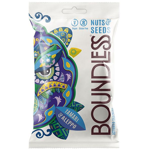 Boundless - Nuts & Seeds - Tamari & Aleppo - 12x30g