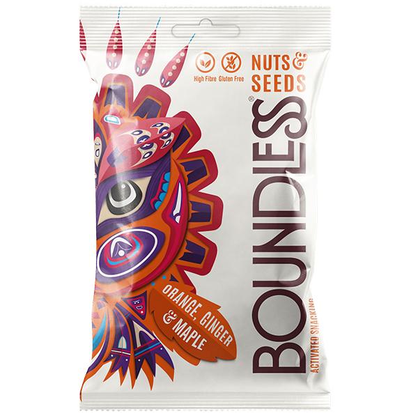 Boundless - Nuts & Seeds - Orange, Ginger & Maple - 12x30g
