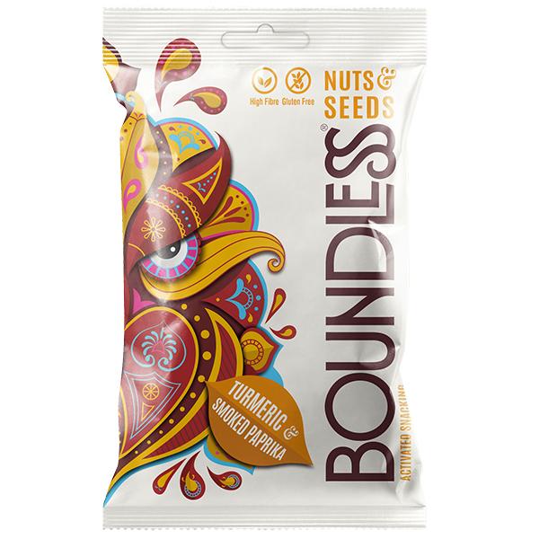 Boundless - Nut & Seeds - Turmeric & Smoked Paprika - 12x30g