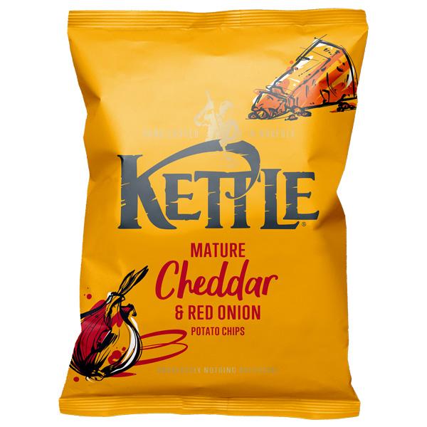 Kettles - Mature Cheddar & Onion - 18x40g