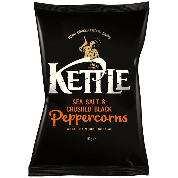 Kettles - Sea Salt & Black Pepper - 12x150g