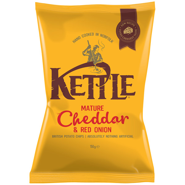 Kettles - Mature Cheddar & Onion - 12x150g