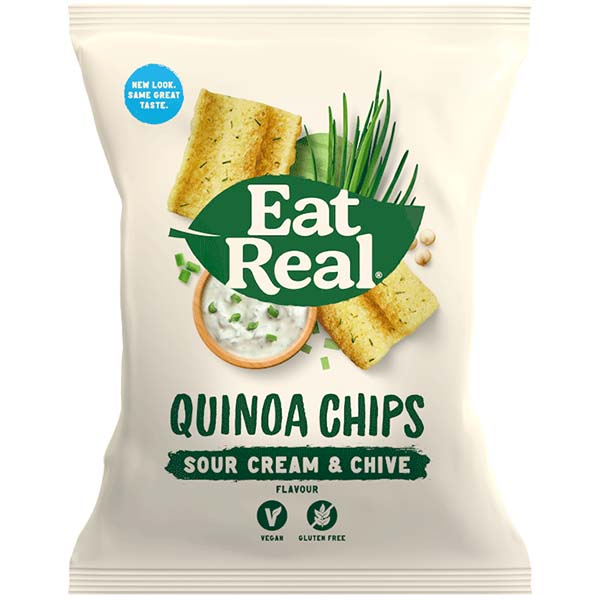 Eat Real - Quinoa Chips - Sour Cream & Chive - 12x30g