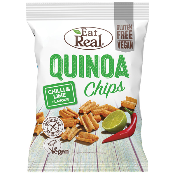 Eat Real - Quinoa Chips - Chilli & Fresh Lime - 12x30g