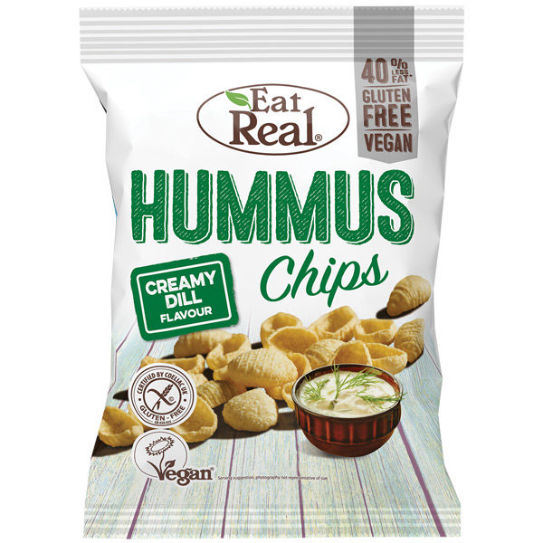 Eat Real - Hummus Chips - Creamy Dill - 12x45g