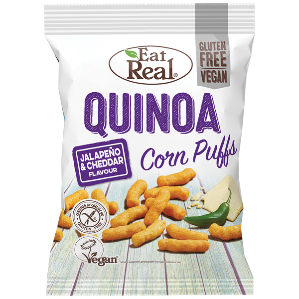 Eat Real - Quinoa & Corn Puff - Jalapeno & Cheddar - 12x40g