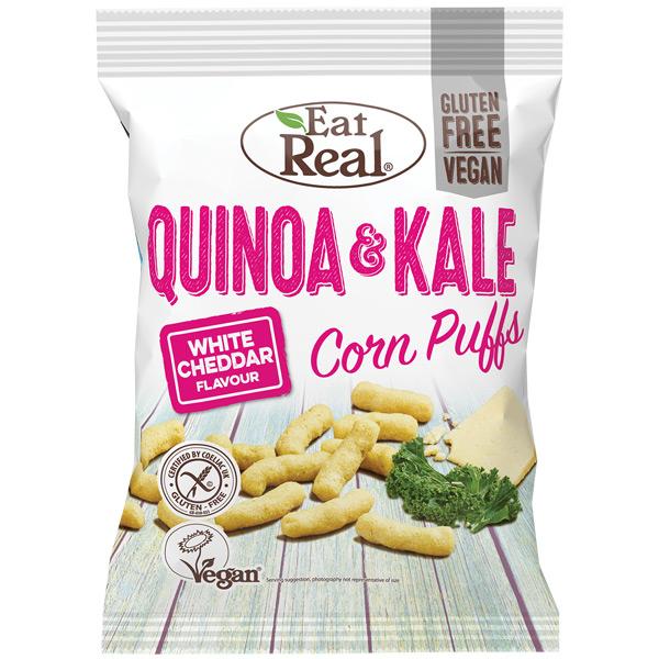 Eat Real - Quinoa & Kale Puff - White Cheddar - 12x40g