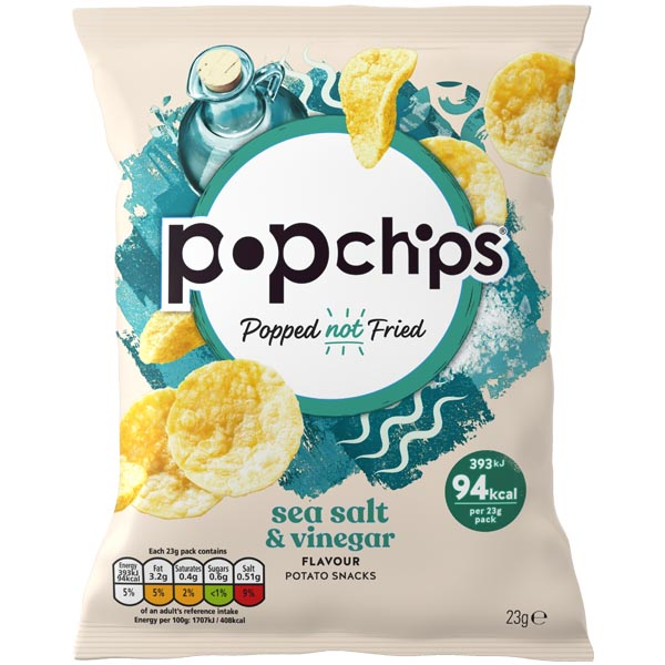 Popchips - Salt & Vinegar - 24x23G
