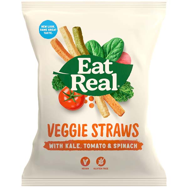 Eat Real - Veggie Straws With Kale - 12x45g