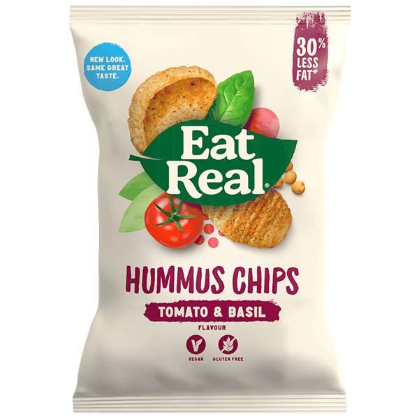 Eat Real - Vending - Hummus - Tomato & Basil - 24x25g