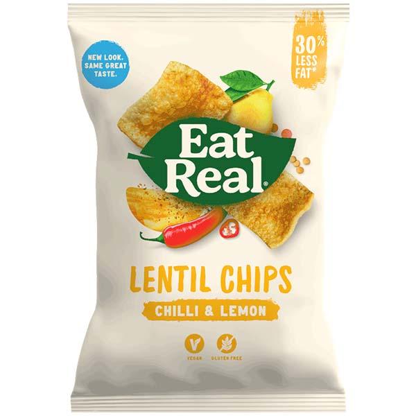 Eat Real - Vending - Lentil - Chilli Lemon - 24x25g