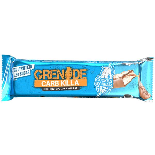 Grenade - Carb Killa Bar - Cookies & Cream - 12x60g