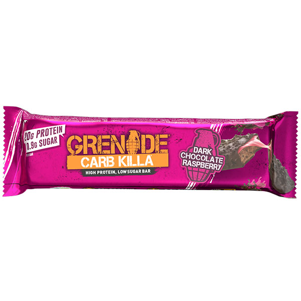 Grenade - Carb Killa Bar - Dark Chocolate Raspberry - 12x60g