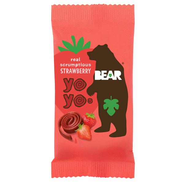 Bear Snacks - Yoyo'S - Strawberry - 18x20g