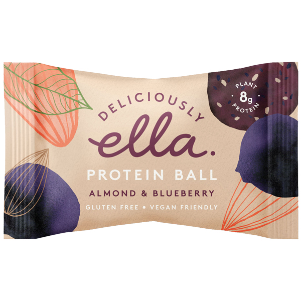 Deliciously Ella Energy Ball - Almond & Blueberry - 12x50g
