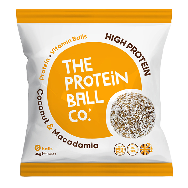Protein Balls - Coconut & Macadamia - Bags - 10x45g