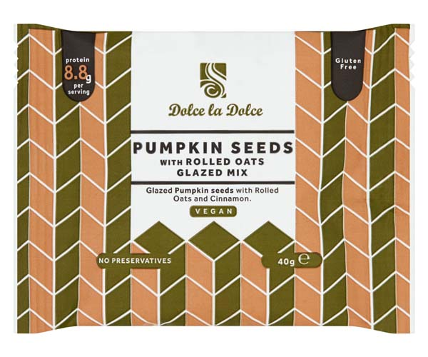 Dolce La Dolce - Pumpkin Seeds With Cinnamon - 12x40g