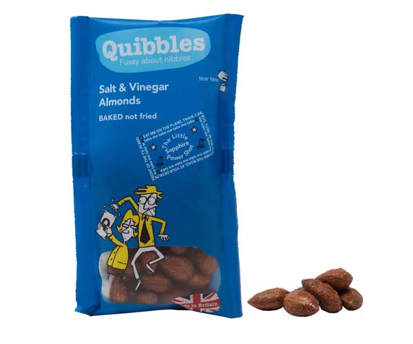 Quibbles - Salt & Vinegar Almonds - 28x30g