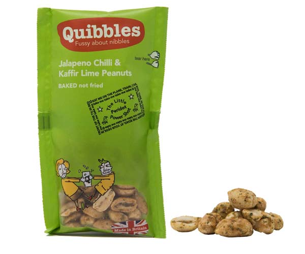 Quibbles - Jalapeno Chilli & Kaffir Lime Peanuts - 28x30g