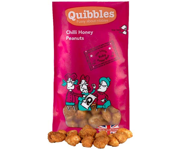 Quibbles - Chilli Honey Peanuts - 28x30g