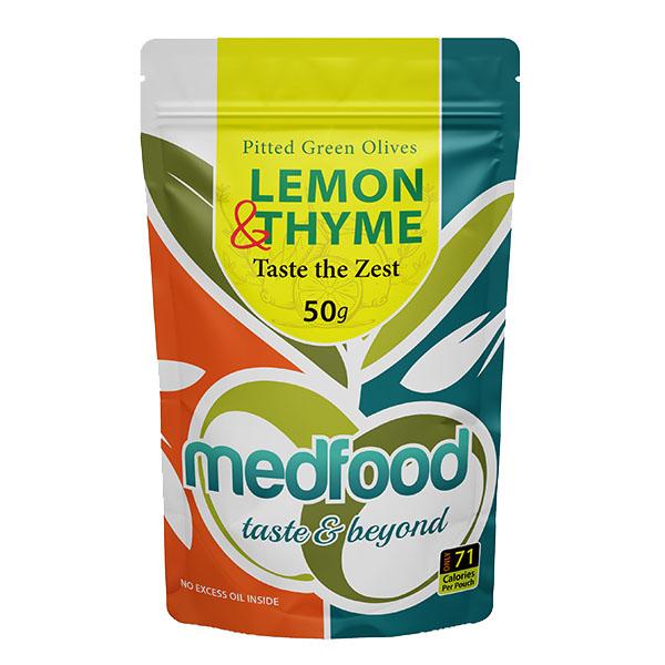 Med Foods - Olives with Lemon & Thyme - 12x50g