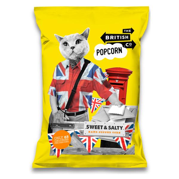 British Popcorn - Sweet & Salty - 24x30g