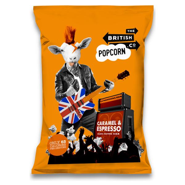 British Popcorn - Caramel & Espresso - 24x30g