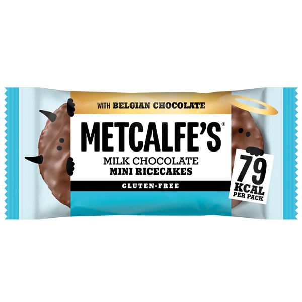 Metcalfes Mini Ricecakes - Milk Chocolate - 16x16g