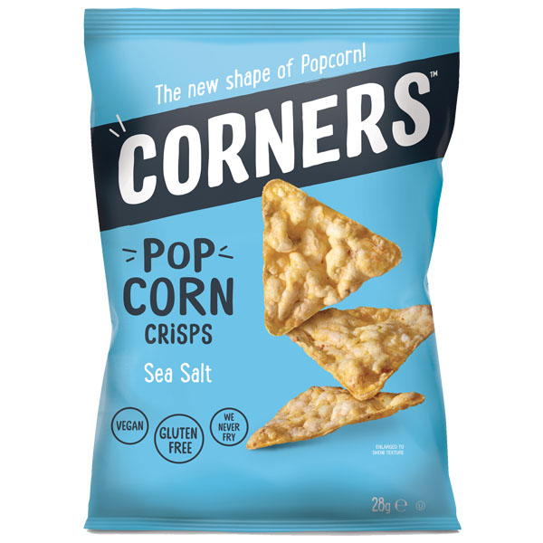 Corners Popcorn Crisps - Sea Salt - 18x28g