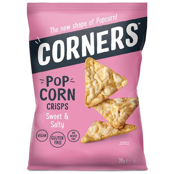 Corners Popcorn Crisps - Sweet & Salty - 18x28g
