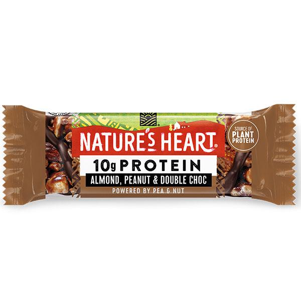 YES! Protein - Almond, Peanut & Double Dark Choc - 12x45g