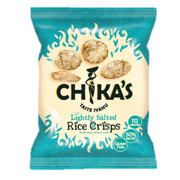 Chikas Rice Crisps - Lightly Salted - 16x25g
