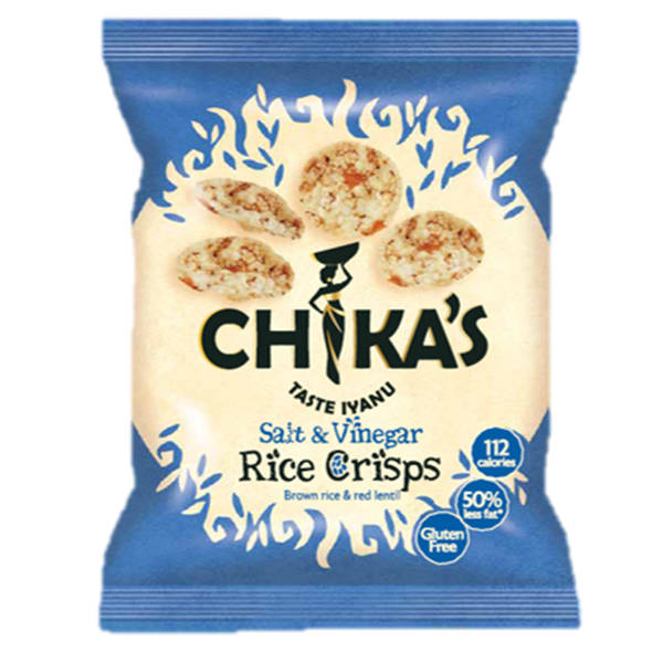 Chikas Rice Crisps - Sea Salt & Vinegar - 16x25g
