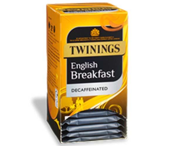 Twinings Enveloped - Decaff English Breakfast - 4x20